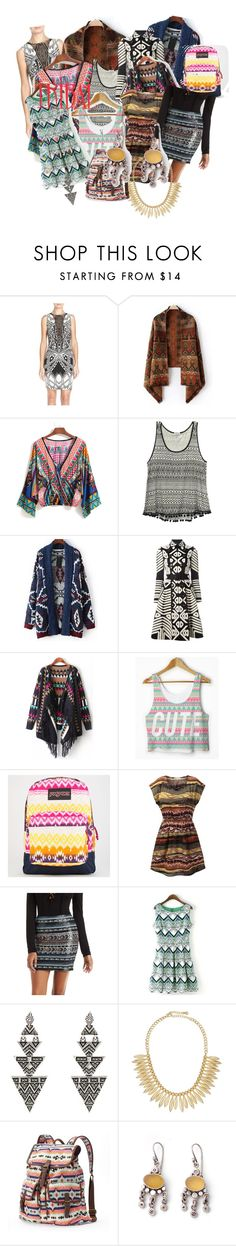 """Tribal - Anjali Popat"" by anjalikpopat ❤ liked on Polyvore featuring Tart, Wet Seal, Relaxfeel, Burberry, JanSport, Charlotte Russe, House of Harlow 1960, Jules Smith and Mudd"