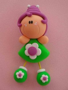 Polymer Clay Christmas, Cute Polymer Clay, Cute Clay, Polymer Clay Dolls, Polymer Clay Charms, Clay Projects, Clay Crafts, Fondant Animals, Plastic Bottle Crafts