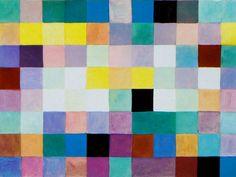 """Peinture abstraite géométrique suisse : Johannes Itten, """"The secondary colors"""", carrés multicolores, damier                                                                                                                                                                                 Plus"""