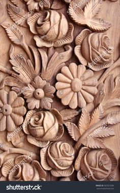 Similar Images, Stock Photos & Vectors of Art work carved in wood.Usually it is used in main doors of House in India - 363327296 Wood Carving Designs, Wood Carving Patterns, Wood Carving Art, Wooden Art, Wood Wall Art, Intarsia Wood Patterns, Wooden Front Door Design, Chip Carving, Driftwood Sculpture