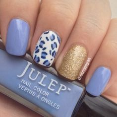 "NOTD featuring @Julep Rebecca, Nicolette, a Sally Hansen nail art pen in blue and @Sephora by OPI ""Looks like Rain Dear"""