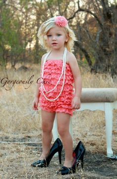 girly, ruffly photo shoot with mom's jewelry & heels!