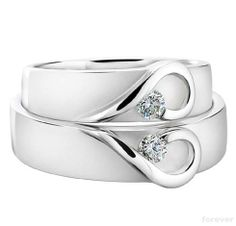Titanium Wedding Rings Heart wedding bands - Wedding bands are among the necessities for announcing and completing your marriage. They are availa Matching Wedding Bands, Wedding Matches, Diamond Wedding Bands, Matching Rings, Diamond Rings, Diamond Stone, Diamond Heart, Shape Matching, Gold Rings