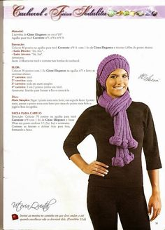 Gente,     Hoje eu ia postar um trabalho finalizado, mas me deu vontade de postar mais uma revista inteirinha para vocês de ninguém mais qu... Knitted Shawls, Crochet Hats, Knitting, Free, Macrame, Blog, Fashion, Hooded Scarf, Knitting For Beginners