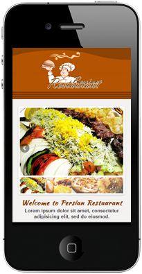 25 best mobile restaurant website images on pinterest restaurant persian food restaurant mobile website by melaka creative mobile website design company creative mobile website forumfinder Choice Image