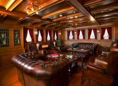 Cigar room, like the chairs and all the wood in the room