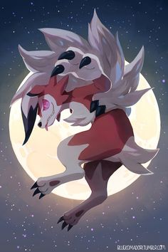 Lycanroc Midnight Form by bluekomadori on DeviantArt - Pokemon Gif Pokemon, Pokemon Moon, Pokemon Fan Art, Cool Pokemon, Dark Type Pokemon, Pokemon Photo, Pikachu Art, Nintendo Pokemon, Cute Pokemon Pictures