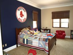 baseball room(take down the sox shi* and put up some Yankees)