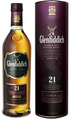 Glenfiddich 21 Year Single Malt Scotch Whisky (Engraved Bottle); The company that put Scotch whisky on the map presents this superior single malt Scotch whisky   spiritedgifts.com