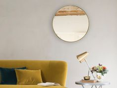 This brass beauty runs rings around so many other circular mirrors out there. Stunningly simple. Nice and vintage-y, it's the Real Deal.