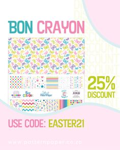 The BON CRAYON paper packs are back in stock and if you buy it this long weekend you'll get 25% DISCOUNT! Use this coupon code at checkout to claim your discount. 🎟️ COUPON: EASTER21 👉 Coupon expires 6 April 2021 + + + + + #ladypatternpaper #basicessentials #scrapbooking #scrapbookingideas #scrapbookingpaper #scrapbookingsupplies #cardmaking #cardmakingideas #cardmakinginspiration #easter #easterspecial #easterdiscount Scrapbook Supplies, Scrapbook Paper, Scrapbooking, Easter Specials, Paper Packs, Card Making Inspiration, Long Weekend, Pattern Paper, Happy Easter