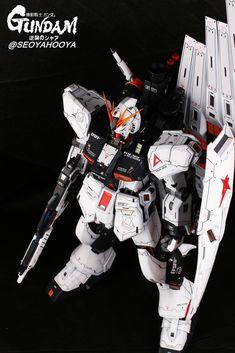 Neo Grade Nu Gundam - Customized Build Modeled by Seoyahooya Mobile Suit, Plastic Models, Grade 1, Transformers, Frame Arms, Robots, Building, Universe, Sculpture