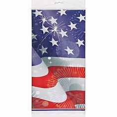 Old Glory Patriotic Plastic Tablecloth 84 x 54 -- Check out the image by visiting the link. (This is an affiliate link)