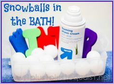Snowball Bath Time {from the mom who doesn't really like bath time}