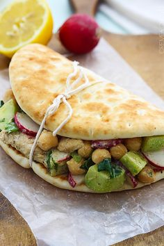 Moroccan Chicken Salad Pitas