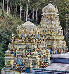 Seetha Kovil temple, Nuwara Eliya, Sri Lanka The area is related to the Ramayana story in Hinduism. Folklore says that the mighty king Ravana kidnapped princess Seeta who was the queen of Rama and hid her in the place where the temple now is.