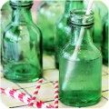 Such cute green apothecary glass bottles