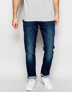 Wrangler Jeans Bostin Slim Tapered Fit Sleeper Green Coated Brushed