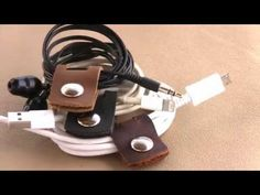 Leather Cord and Earphone Holder