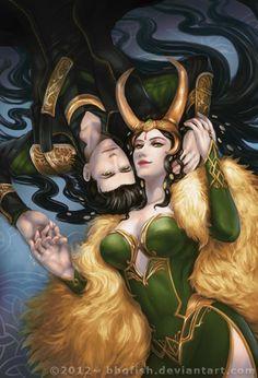 Loki and Lady Loki... Looking beautiful....