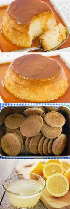 Flan de galletas con las tradicionales 'María' de toda la vida. #flan #galletas #cookies #maria #galletasmaria #limón #caramelo #postres #gelato #cheesecake #cakes #pan #panfrances #panettone #panes #pantone #pan #recetas #recipe #casero #torta #tartas #pastel #nestlecocina #bizcocho #bizcochuelo #tasty #cocina #chocolate Si te gusta dinos HOLA y dale a Me Gusta MIREN...