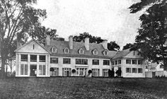 Fox Hollow, the residence of Tracy Dows at Rhinebeck, New York. Front Exterior Picture