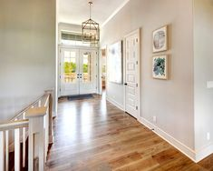 Wide plank Hardwood Floors, Square Spindles, Craftsman Style Home, Double Doors, Lantern Lighting Vaulted Ceiling Kitchen, Ceiling Beams, Realtor Listings, Double Entry Doors, Latest Design Trends, New Home Construction, Wide Plank, Model Homes, Great Rooms