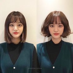 Kpop Short Hair, Korean Short Hair, Permed Hairstyles, Hairstyles With Bangs, Pretty Hairstyles, Medium Hair Styles, Curly Hair Styles, Before After Hair, Edgy Haircuts