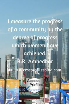 The Progress of Our Society is Directly Related to the Progress of Women #GenderEquality