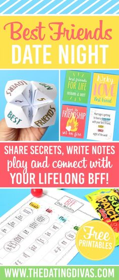 Best Friends Date Night - what a cute idea to celebrate your spouse!