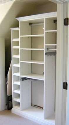 California Closets provides a range of unique and beautiful custom closets, closet organizers, and home storage systems for any room in the home. Ikea Closet Storage, Closet Storage Systems, Best Closet Organization, Closet System, Master Bedroom Closet, Extra Bedroom, Master Suite, Laundry Closet Makeover, Big Girl Bedrooms