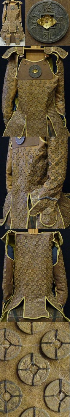 Japanese coin armor, a form of tatami (foldable) armor constructed with coins sewn to a leather backing.