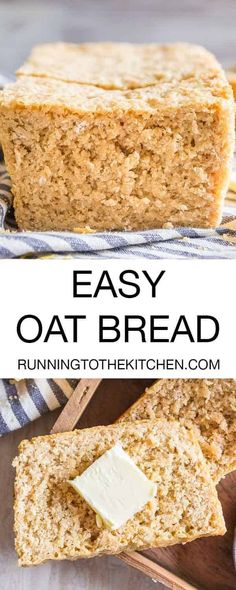 A simple blend of all-purpose, whole wheat and oats results in this easy homemade oat bread. A simple blend of all-purpose, whole wheat and oats results in this easy homemade oat bread. Oat Bread Recipe, Best Homemade Bread Recipe, Gluten Free Oat Bread, Bread Machine Recipes, Bread Recipes, Baking Recipes, Oats Recipes, Recipies, Vegan Recipes