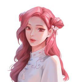 Pink Hair Anime, Anime Girl Pink, Pretty Anime Girl, Cool Anime Girl, Beautiful Anime Girl, Manga Girl, Anime Art Girl, Anime Hair Color, Anime Girl Drawings