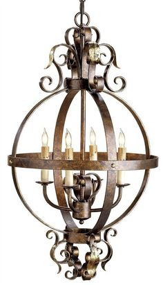 Wrought Iron French Country Chandelier
