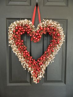 Heart Wreath  Anniversary Gift  Heart by EverBloomingOriginal, $69.00