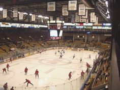 Great barn to watch a game in! Kitchener Ontario, Auditorium, Hockey, Barn, Watch, Converted Barn, Clock, Barns, Warehouse