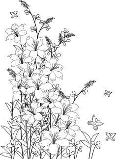 25 Easy Doodle Art Drawing Ideas For Your Bullet Journal - Brighter Craft Coloring Book Pages, Coloring Sheets, Digi Stamps, Printable Coloring, Colorful Pictures, Colorful Flowers, Pretty Flowers, Doodle Art, Line Art