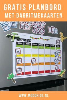 Een planbord voor het gezin? Of liever één voor je kinderen? Met dit gratis planbord geef je je kinderen meer structuur en inzicht ten aanzien van de weekplanning. Social Work, Social Skills, Kids And Parenting, Parenting Hacks, Love Parents, Co Teaching, Busy Bags, Junior, Occupational Therapy
