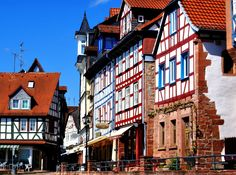 Marketplace in Gelnhausen, Germany jigsaw puzzle Gelnhausen Germany, Puzzle Of The Day, Next Holiday, Romanesque, Austria, Places Ive Been, Jigsaw Puzzles, Around The Worlds, Mansions