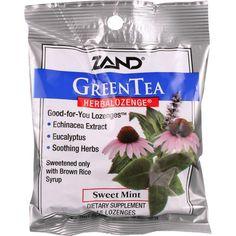 Zand Counter Display - Herbal Supplement - HerbaLozenge - Green Tea with Echinacea - 15 lozenges - case of 12