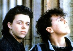 """Tears For Fears' brand of synth-pop. If there are godfathers of adult alternative music, they're Tears For Fears. The bleak, echoing piano on """"Mad World"""" was most everyone's first glimpse into the emotional abstraction of Roland Orzabal's songwriting and Curt Smith's soul-inspired vocals. With 1985's Songs From The Big Chair, the group entered the big leagues thanks to hits such as """"Shout,"""" """"Everybody Wants to Rule the World"""" & """"Head Over Heels.""""  http://www.tearsforfears.com"""