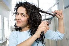 How to Make Straight Hair Stay Curly - i would use curlers instead of a curling iron