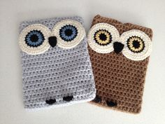 Crochet Owl Ipad Case by peanutbutterdynamite on Etsy, $30.00