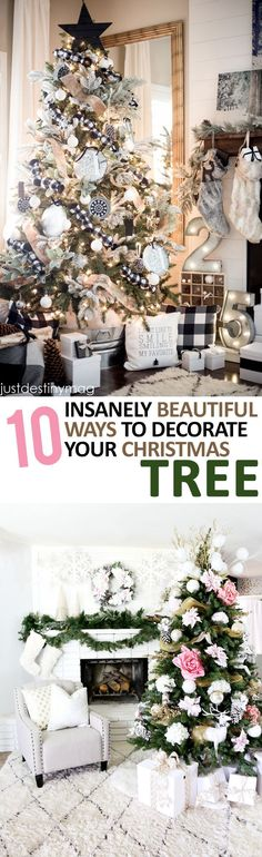 10-insanely-beautiful-ways-to-decorate-your-christmas-tree #christmastips