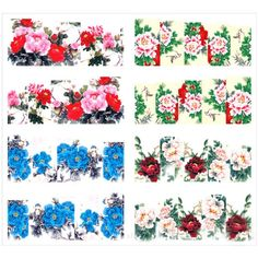 Generic 4 Patterns/Sheet Flower Water Decals Gradient Color Nail Art Transfers Stickers >>> Check out this great product.