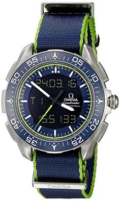 Omega Mens Speedmaster Swiss Quartz Titanium and Canvas Casual Watch ColorBlue Model 31892457903001 *** You can find more details by visiting the image link.Note:It is affiliate link to Amazon. #miami