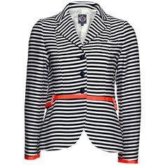 Vilagallo Forest Stripe Blazer - Stripes ($290) ❤ liked on Polyvore