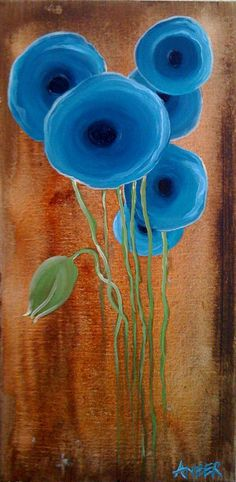Items similar to Abstract Poppies on Etsy