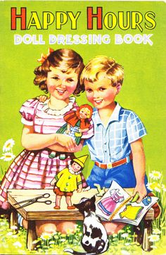 Happy Hours published by Birn Bros. Ref. No. 430. A mixture of everyday and dressing-up clothes.